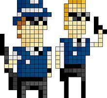 Hot Fuzz - Pixel Art by NineLineMan
