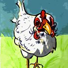 Chicken with moustache by drknice