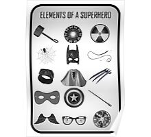 Elements of a Superhero  Poster