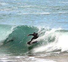 Surfing over a 2 metre Bronze Whaler Shark by Craig Simons
