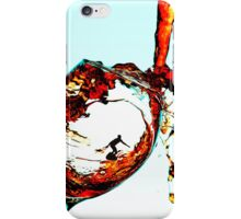 Surfing In A Cup Of Wine iPhone Case/Skin