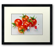 Chefs And Cherry Tomatoes Framed Print