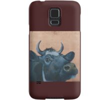 """""""The Grass Is Always Greener..."""" Cow Gazing Over Fence Samsung Galaxy Case/Skin"""