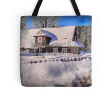 Sunny day after a snow storm  Tote Bag