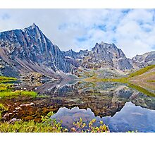 Tombstone Mountains and Grizzly Lake Photographic Print