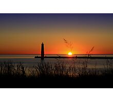 Frankfort North Breakwater Lighthouse Photographic Print
