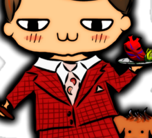 SAVE THE ANIMALS, EAT PEOPLE (3) - hannibal doodle Sticker