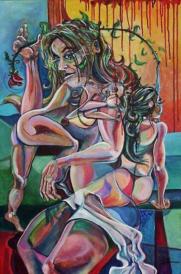 The Enigma of the Woman (Acrylics)- by Robert Dye