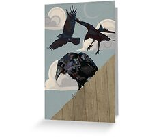 Crow invasion Greeting Card