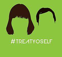 "The Tom & Donna // ""#TREATYOSELF"" by StevieNYC"