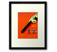 Fire Fighters And Fire Gun Framed Print