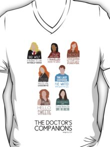 Doctor Who  Companions (alternate version) T-Shirt