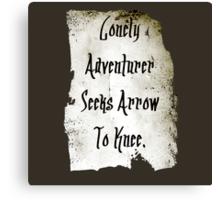 Lonely Adventurer Canvas Print