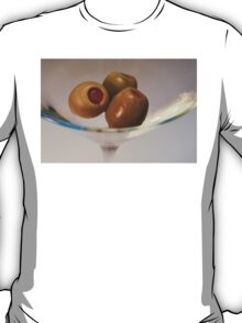Green Olives in a Martini Glass T-Shirt