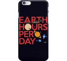 Earth Hours Per Day iPhone Case/Skin