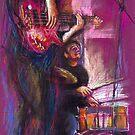 Jazz Duet Pastel by Yuriy Shevchuk