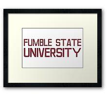 Fumble State University Framed Print