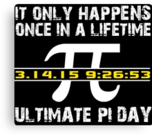 Amazing 'Ultimate Pi Day 2015 Gold' T-shirts, Hoodies, Accessories and Gifts Canvas Print