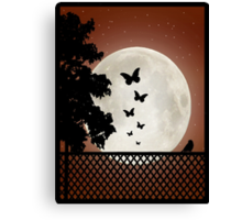 Butterfly Moon Canvas Print
