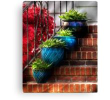 Four Blue Pots Canvas Print