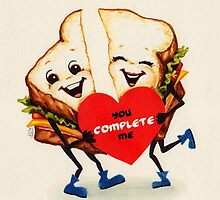 Valentine's Day! Sandwich Valentine by Kelly  Gilleran