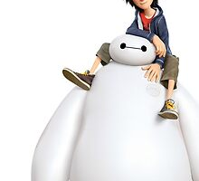 Big Hero 6's Hiro and Baymax by JakeyJurin