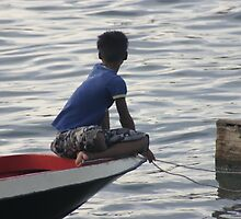 Boy on Boat by eapdesigns