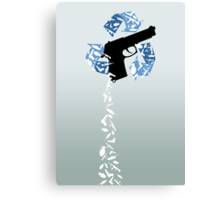 recycle weapons Canvas Print