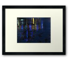Christmas Lights on Ice Framed Print