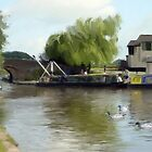 Working on the narrowboat by Barry Thomas