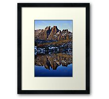 Mt Geryon Reflection Framed Print
