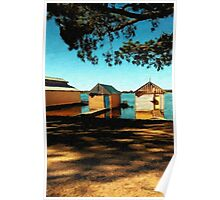 Views from the Lake II - Boathouses Poster