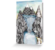 An alpine scene Greeting Card