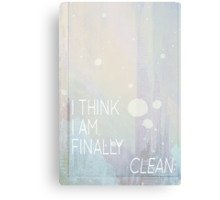 Taylor Swift -- Clean 1 Canvas Print