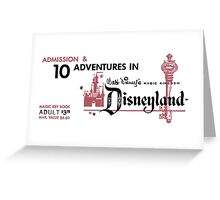 Adventures in Disneyland Greeting Card