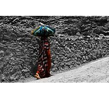 Jabel Akhdar old lady Photographic Print