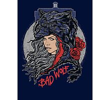 Bad Wolf -Blues Photographic Print