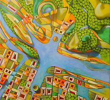 imaginary map of Turin by federico cortese