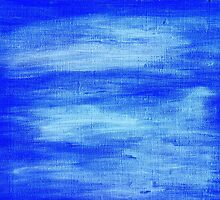 Blue painted abstract background by KerstinB