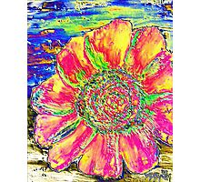 oil sunflower digital painting image Photographic Print