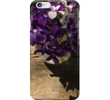 A Fragrant Bouquet of Miniature Spring Violas - Can You Smell Them? iPhone Case/Skin