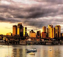 Storm Clouds - McMahons Point - Moods Of A City - The HDR Series by Philip Johnson