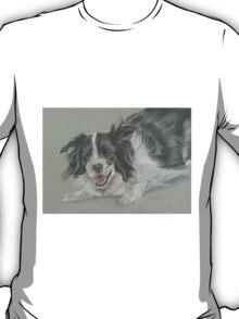 Collie dog pastel portrait T-Shirt