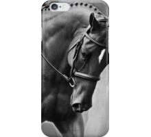 Elegance Dressage Horse in Black and White  iPhone Case/Skin