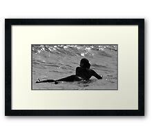 Waiting for the Wave Framed Print