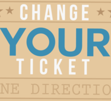 Change Your Ticket - One Direction Sticker