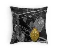 OneYellow Leaf Throw Pillow