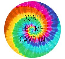 The Wonder Years Tie Dye - 'Don't Let Me Cave In' by smalltownmoon