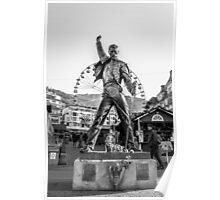 Freddie Mercury Statue  Poster