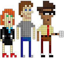 IT Crowd - Pixel Art by NineLineMan